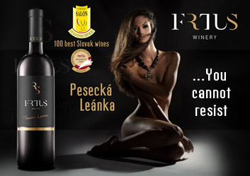 "Pesecká Leanka Frtús winery - Editorial test winner of the magazine ""Vinotéka"""