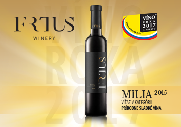 MILIA 2015 – wine of the year 2017 in the category natural sweet wine